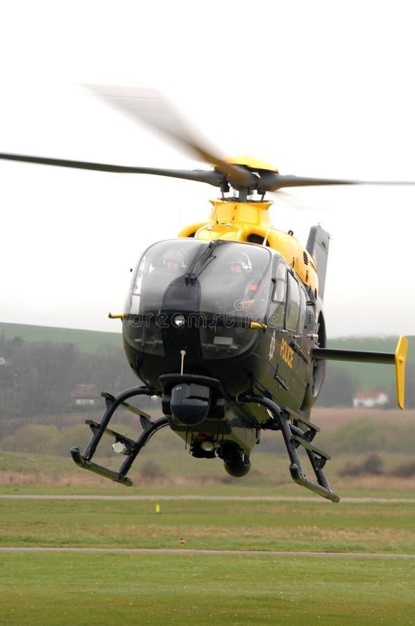 De helikopter van de politie. stock fotografie