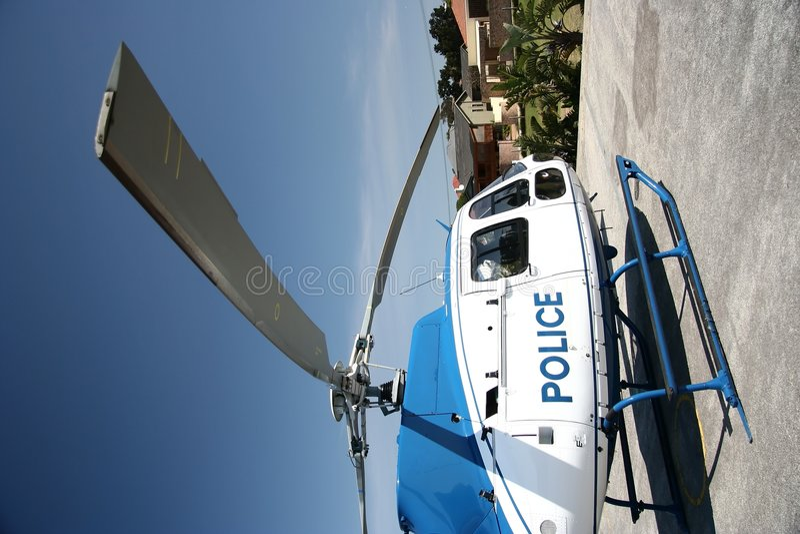 De Helikopter van de politie stock afbeeldingen