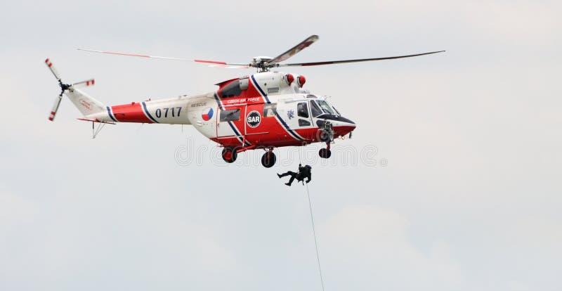 De helikopter van de redding stock afbeeldingen