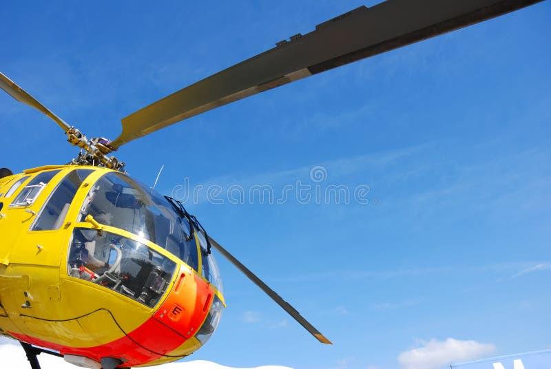 De helikopter van de redding