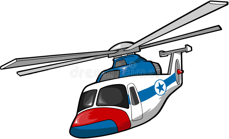 De Helikopter van de redding stock illustratie