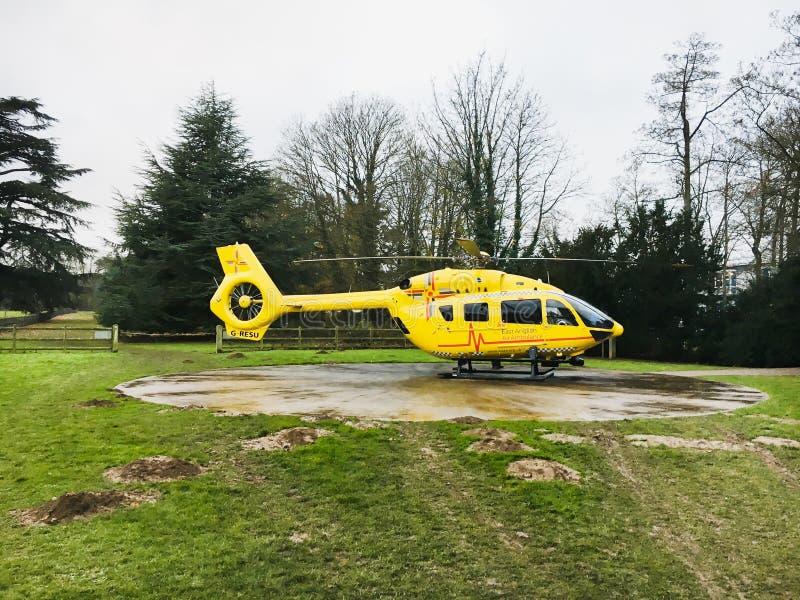 De Helikopter van de luchtziekenwagen stock afbeelding