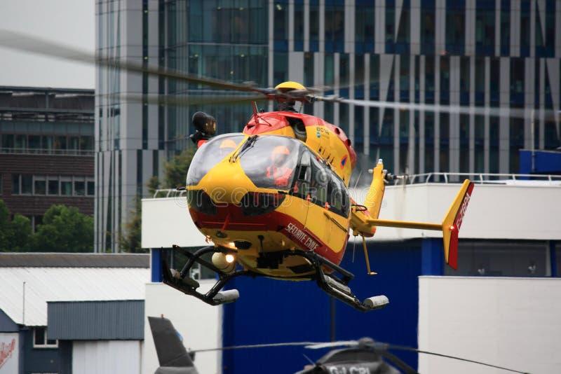 De helikopter van Securitecivile het hangen royalty-vrije stock foto