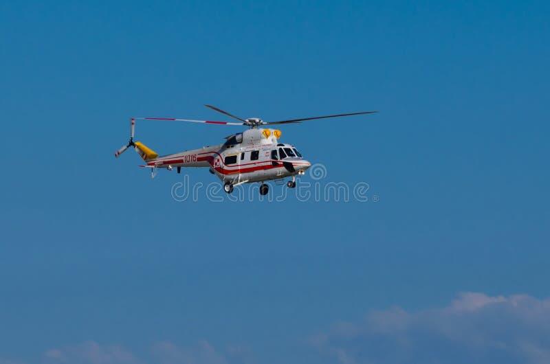 De helikopter w-3WA Sokol van de Poolse Voorzitter stock foto's