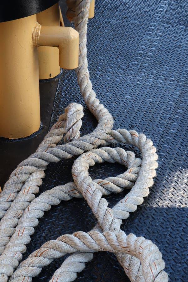 De helling is dik voor Nautical Useage stock afbeeldingen