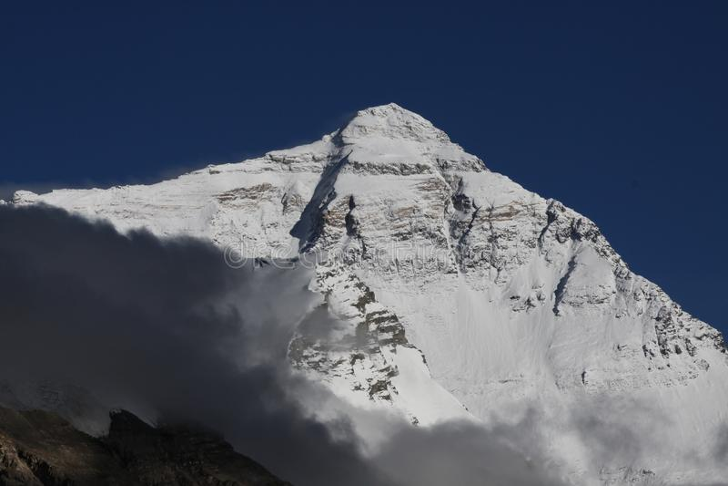 De Helling van het Noorden van Everest stock afbeeldingen
