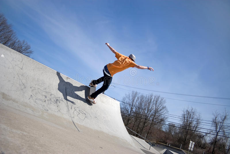 De Helling van het skateboard royalty-vrije stock foto's