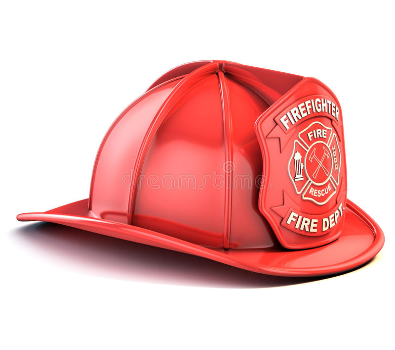De helm van de brandweerman royalty-vrije illustratie