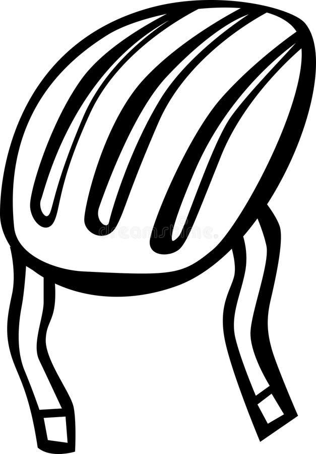 De helm van de fietser of van de schaatser vector illustratie