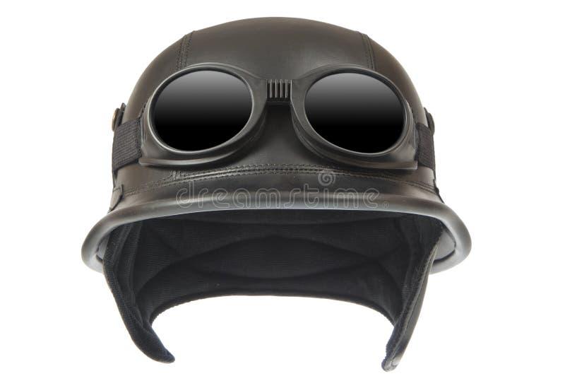 De helm van de motorfiets stock foto