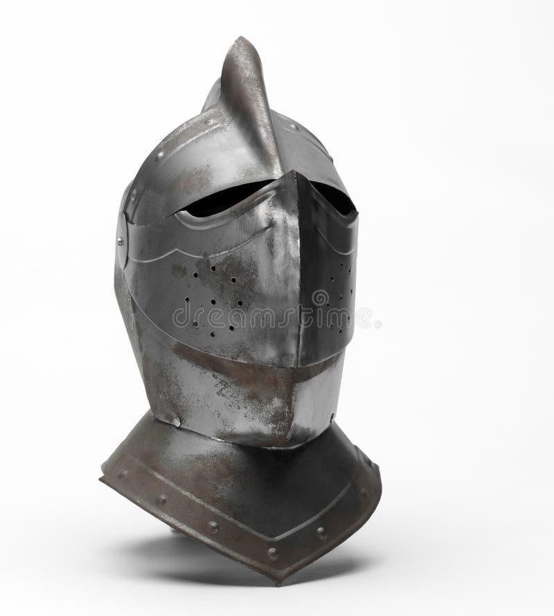 De helm van de ridder stock afbeelding