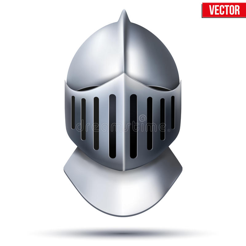 De helm van de ridder Vector illustratie stock illustratie