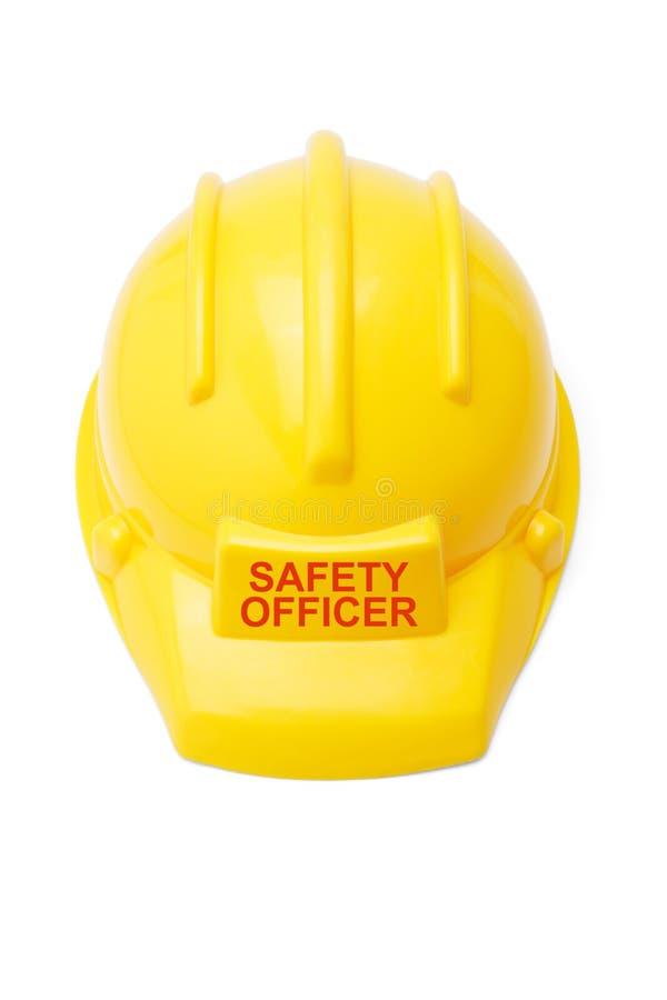 De helm van de veiligheid voor veiligheidsambtenaar royalty-vrije stock foto