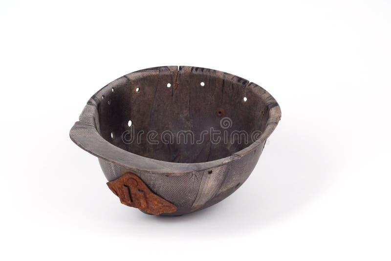 De helm van het bakeliet van een mijnwerker stock fotografie