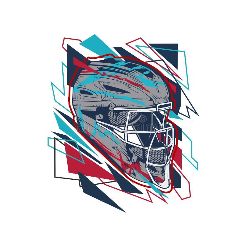 De helm vrije vector van het illustratiehonkbal royalty-vrije illustratie