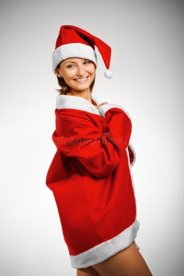 De helper van de grappige Kerstman stock foto