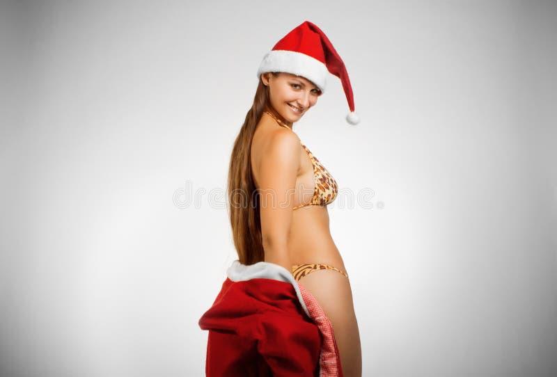 De helper van de mooie Kerstman royalty-vrije stock foto