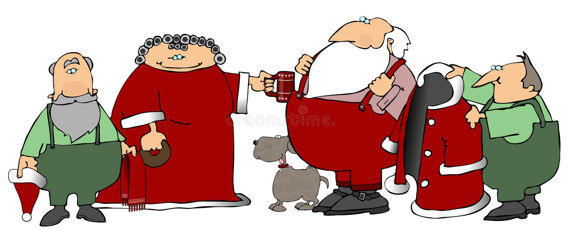De Helpers van de kerstman vector illustratie