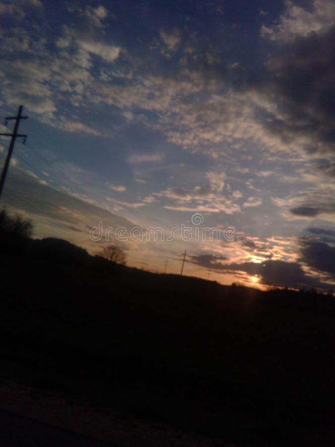 De hemel van Alabama stock foto