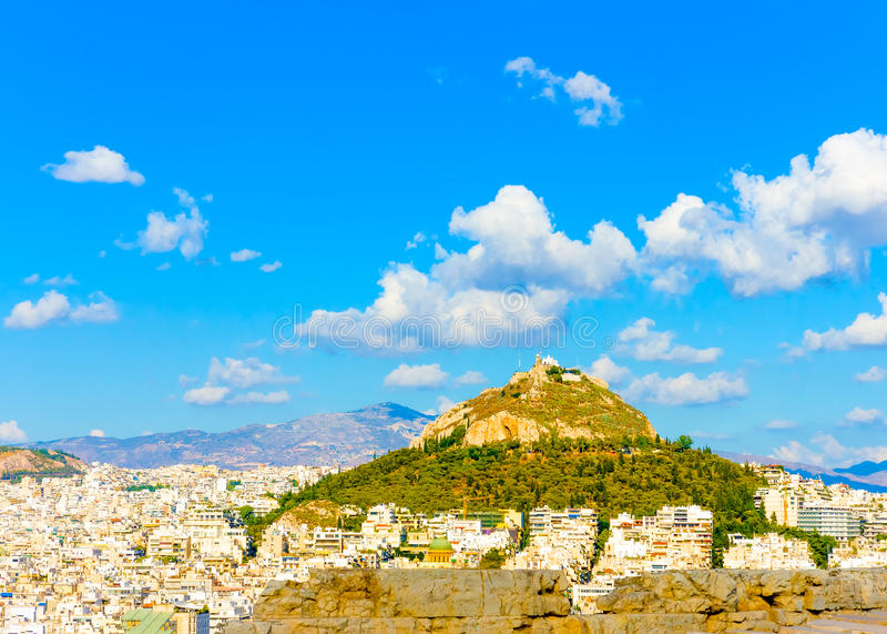 De hemel van Athene royalty-vrije stock foto
