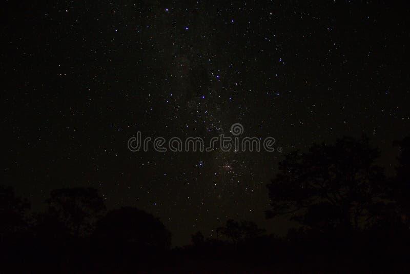 De hemel van binnenlands, verre van om het even welk licht, is altijd mooier en volledig van sterren royalty-vrije stock afbeelding