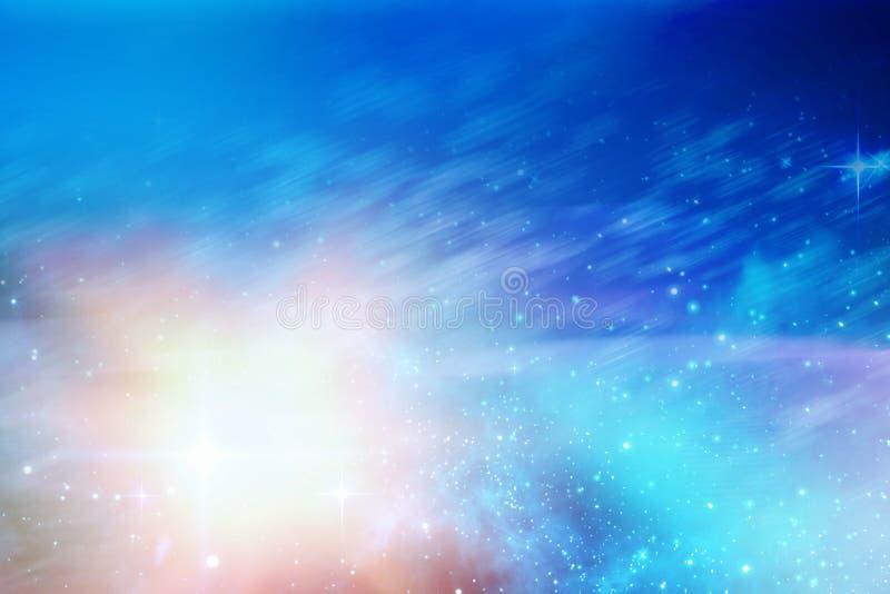 De hemel van de dageraadnacht in blauw stock illustratie