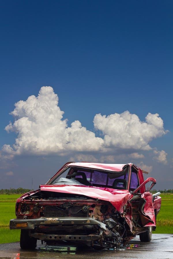 De hemel van de de rijstwolk van autoongevallen stock fotografie