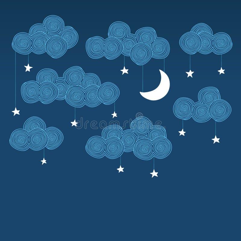 De hemel van de nacht royalty-vrije illustratie