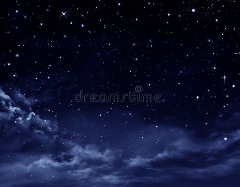 De hemel van de nacht stock illustratie