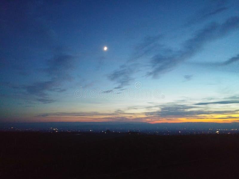 De hemel van de nacht stock afbeeldingen