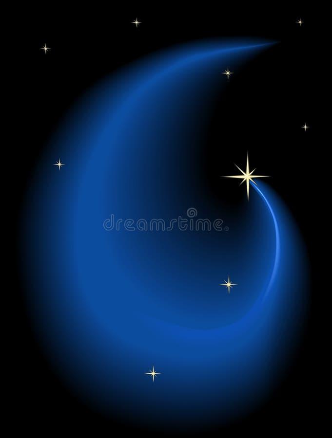 De hemel van de nacht met sterren royalty-vrije illustratie