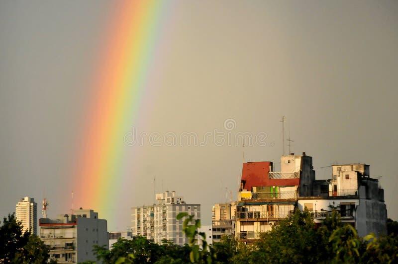 De hemel van de regenboog stock afbeelding
