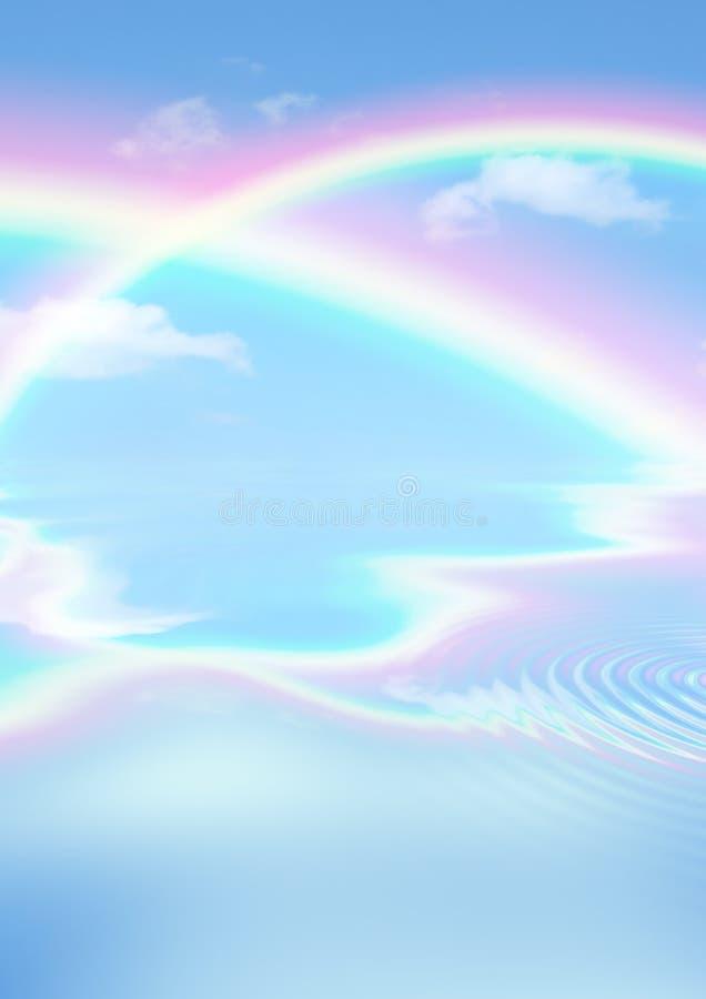 De Hemel van de regenboog stock fotografie