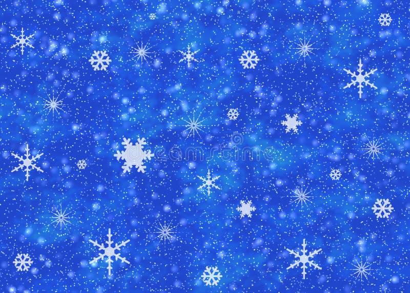 De hemel van de sneeuw stock illustratie