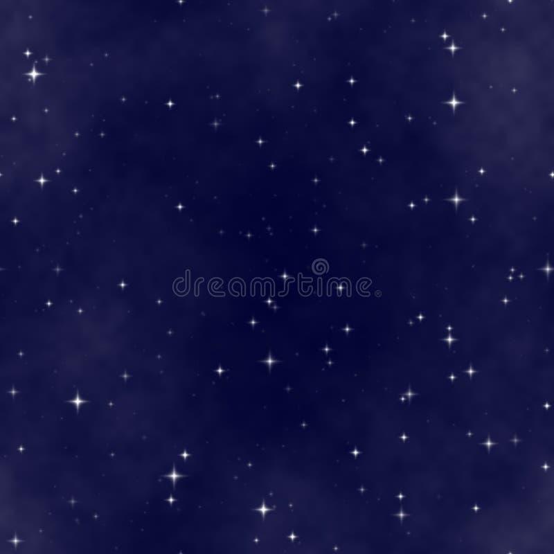 De hemel van de sternacht vector illustratie