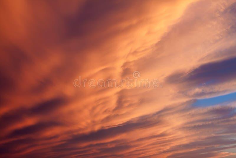 De hemel van de zonsondergang. stock fotografie