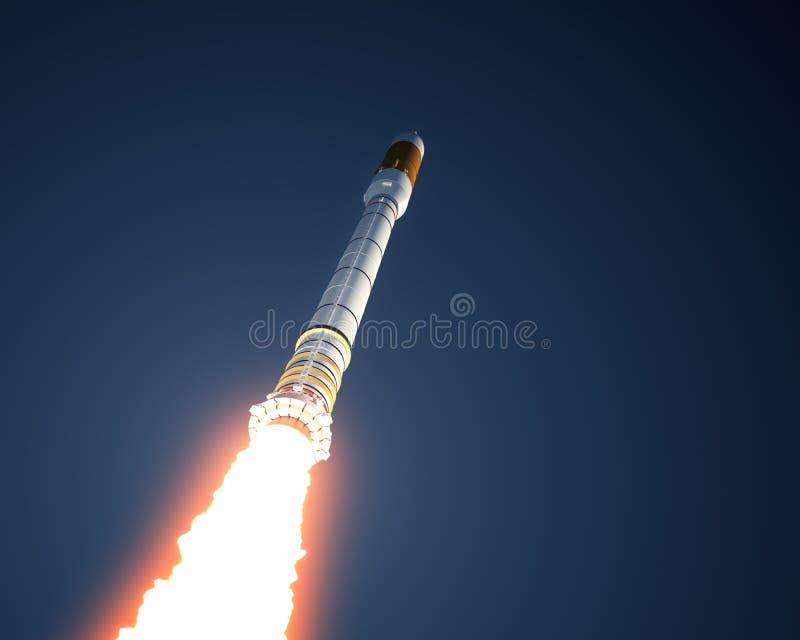 De Hemel van dragerrocket takes off in the stock illustratie
