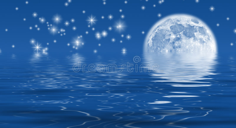 De Hemel van het maanlicht vector illustratie