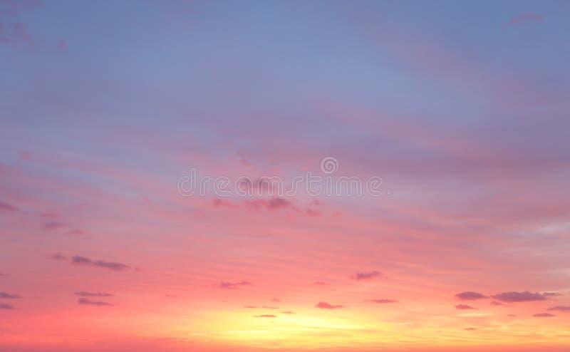 De hemel van de ochtendzonsopgang royalty-vrije stock fotografie
