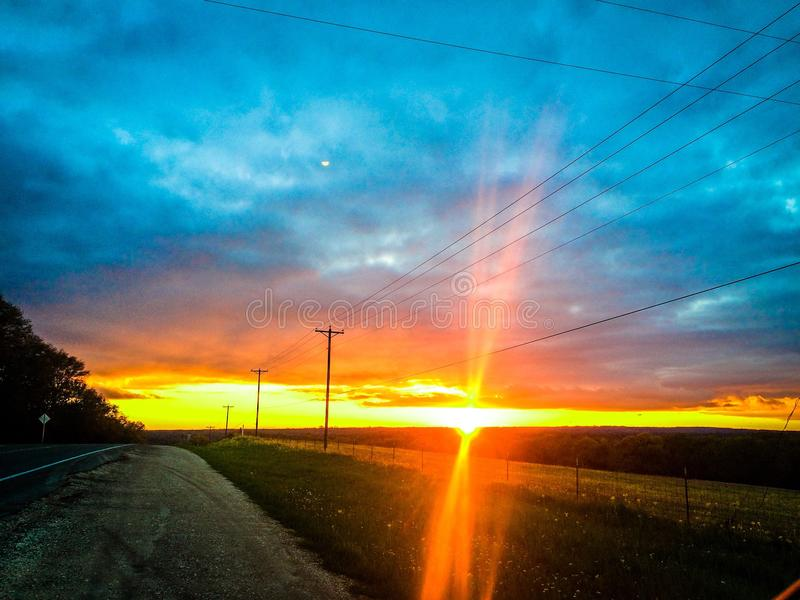 De hemel van Texas royalty-vrije stock foto's