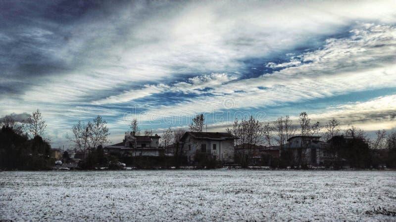 De hemel van de winter royalty-vrije stock afbeelding