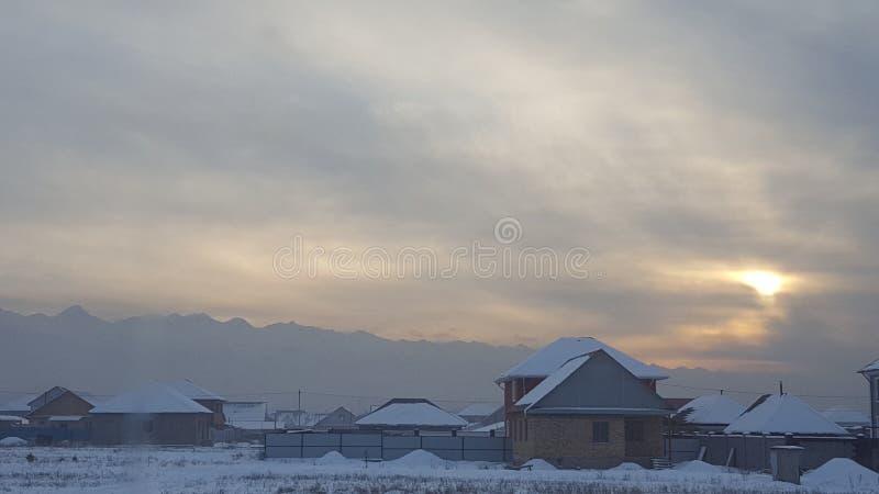 De hemel van de winter stock foto's