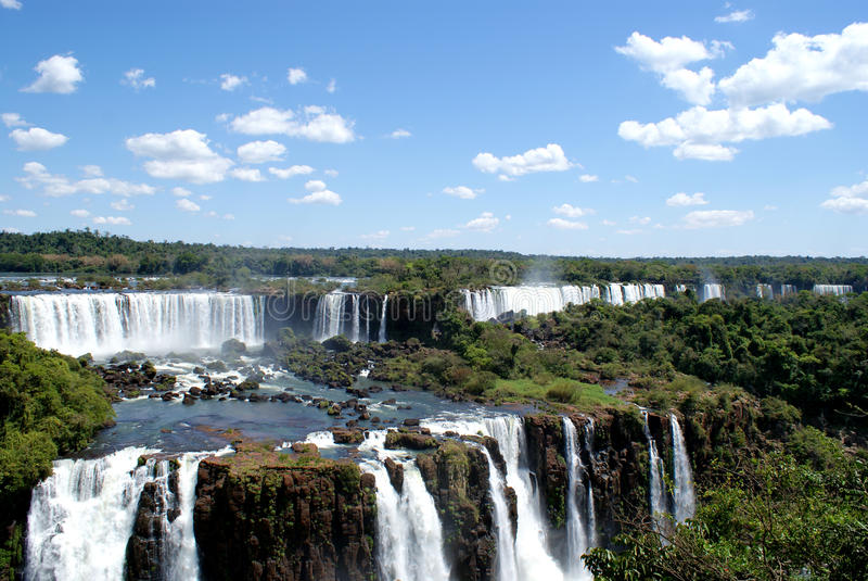 De hemelblauw van de waterval stock foto's