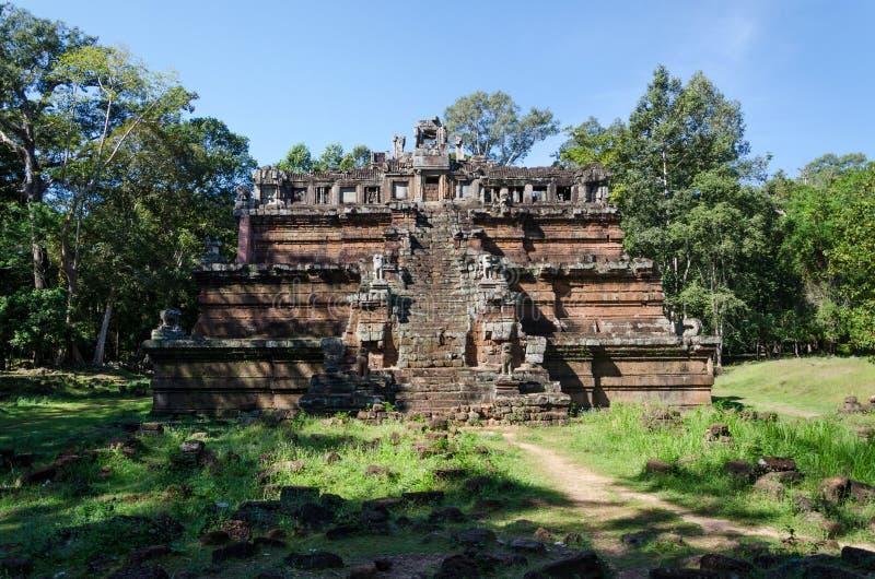 De hemeltempel Phimeanakas maakt deel uit van het koninklijke paleis Angkor Thom stock afbeelding