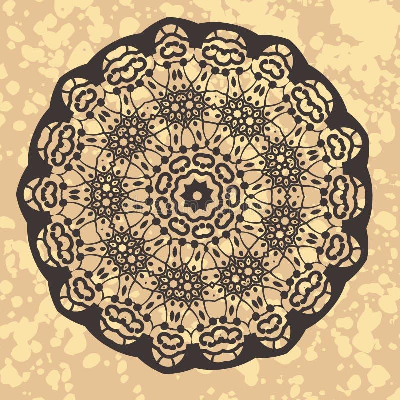De henna inspireerde Kleurrijke Mandala stock illustratie