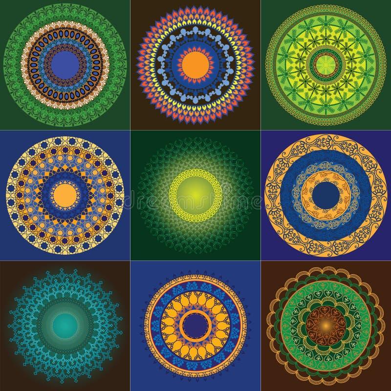 De Henna Mandala van de kleur stock illustratie