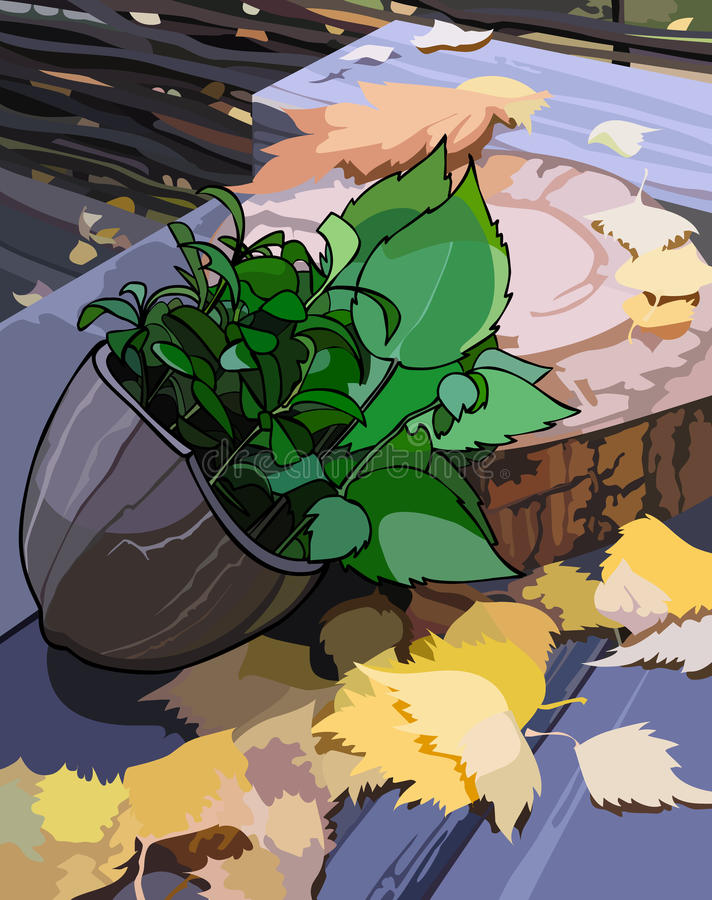 De herbariumherfst vector illustratie