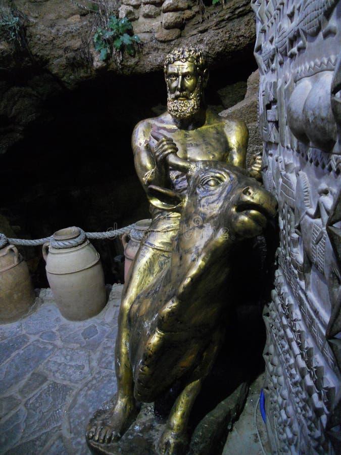 De hercules grottorna i tanger Marocko arkivbilder