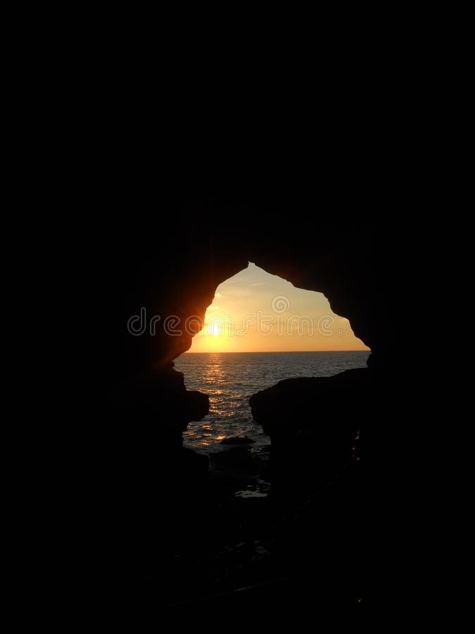 De hercules grottorna i tanger Marocko arkivfoto