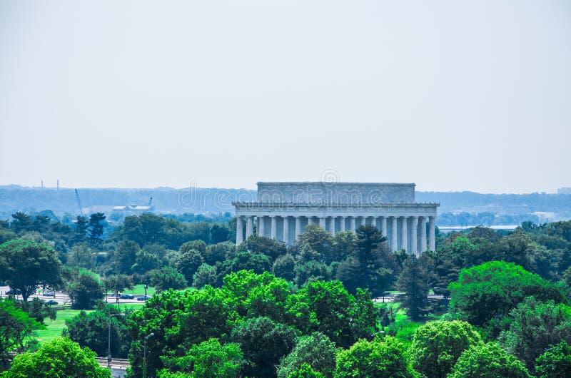 De herdenkings, opgeheven mening van Lincoln royalty-vrije stock afbeelding